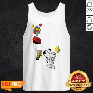 Snoopy And Charlie Brown Woodstock Balloon Tank Top