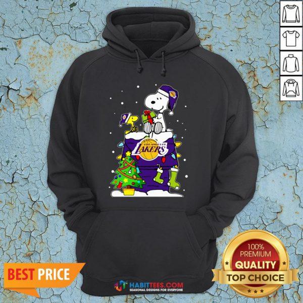 Snoopy Lakers Ugly Christmas Hoodie