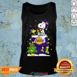 Snoopy Lakers Ugly Christmas Tank Top
