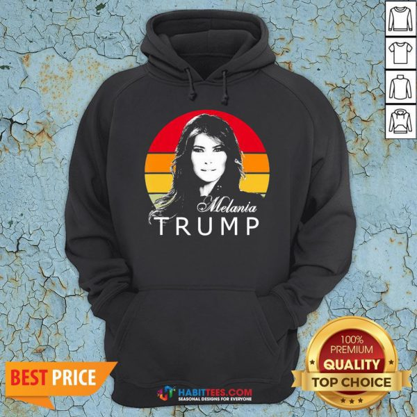 - Design By Habittees.comSo Melania Trump First Lady Of The United States Vintage Retro Hoodie
