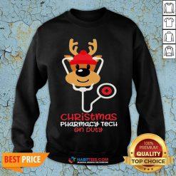 Super Christmas Pharmacy Tech On Duty Reindeer Nurse Sweatshirt - Design By Habittees.com