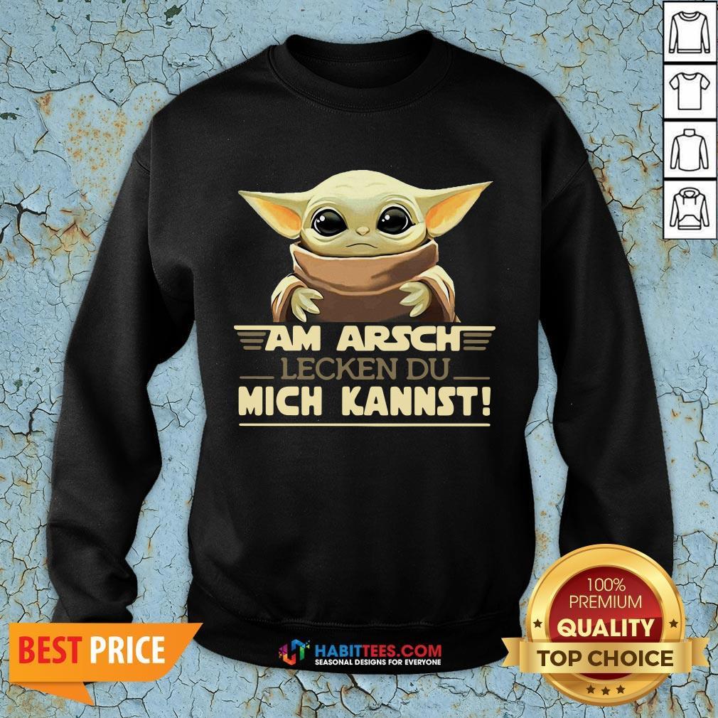 Baby Yodda Am Arsch Lecken Du Mich Kannst SweatShirt - Design by Habittees.com