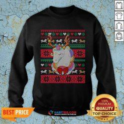 Original Reindeer Unicorn Ugly Christmas SweatShirt