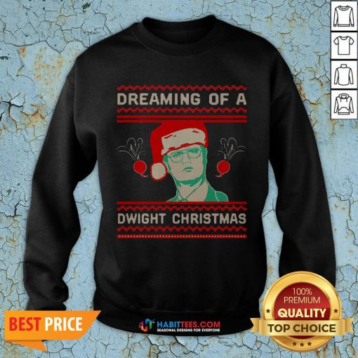 Dreaming Of A Dwight Ugly Christmas SweatShirt- Design by Habittees.com