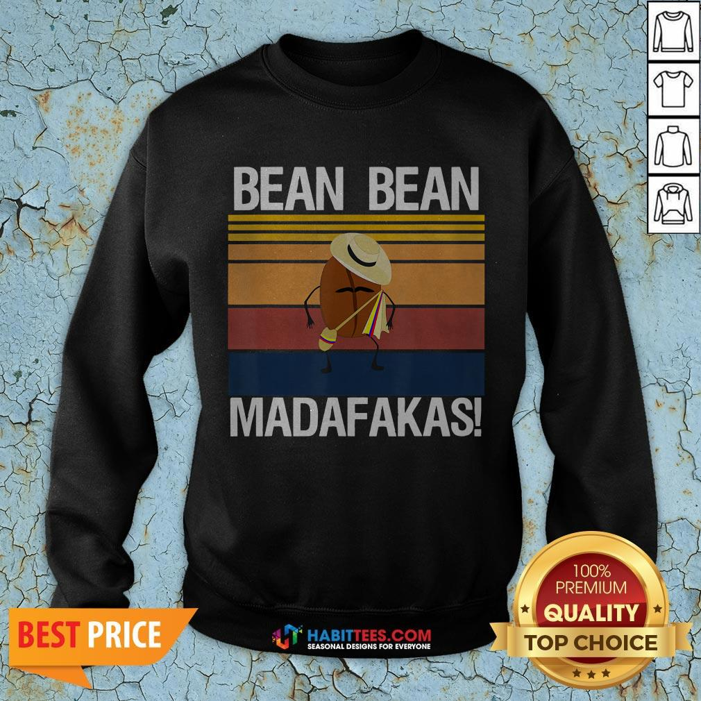 Coffee Bean Bean Madafakas Vintage SwearShirt- Design by Habittees.com