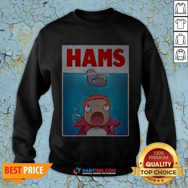 Official Hams Parody Jaws SweatShirt- Design by Habittees.com