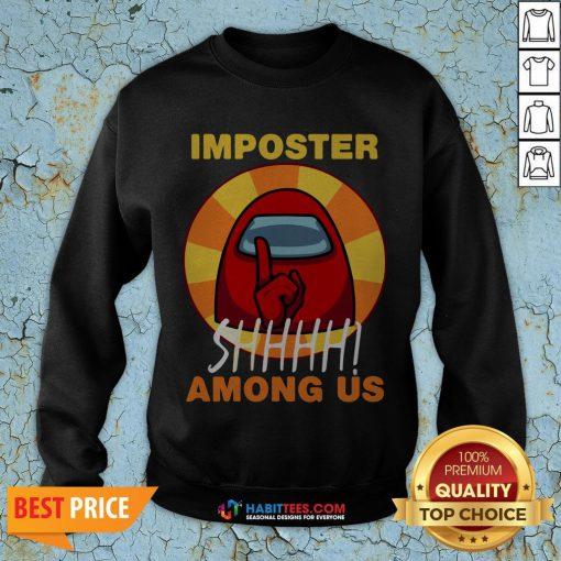 Impostor Among-us Funny Game Sus SweatShirt- Design by Habittees.com