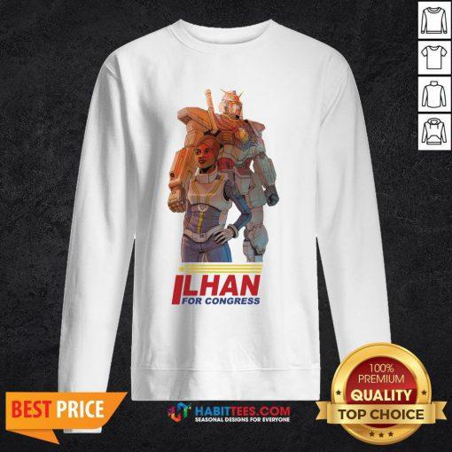 Ilhan Omar Gundam Pilot By Ben Sawyer SweatShirt- Design by Habittees.com