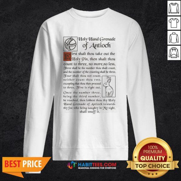 Premium Holy Hand Grenade Of Antioch SweatShirt- Design by Habittees.com