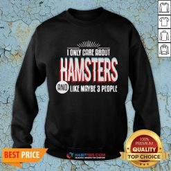 Awesome I Only Care And Obsessed About Hamsters Pet Animal SweatShirt