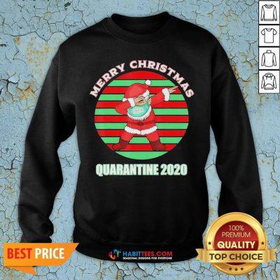 Sweet Santa Claus Merry Christmas Quarantine 2020 Vintage Sweatshirt - Design By Habittees.com