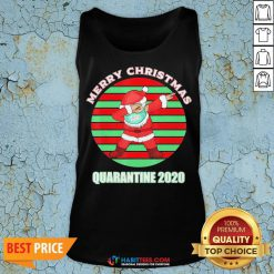 Sweet Santa Claus Merry Christmas Quarantine 2020 Vintage Tank Top - Design By Habittees.com