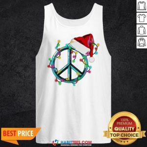 Funny Hippie Happy Christmas Tank Top