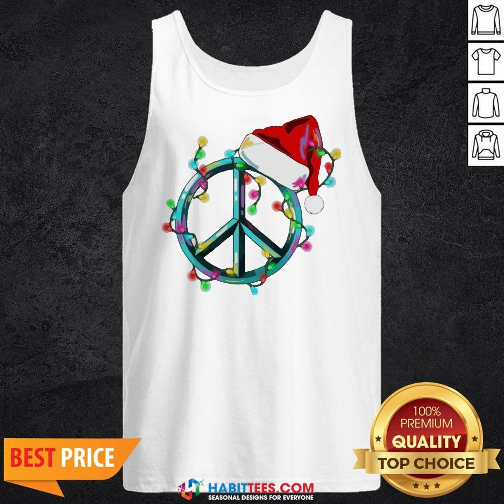Funny Hippie Happy Christmas Tank Top - Design by Habittees.com