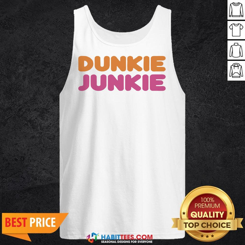 Funny Dunkie Junkie Tank Top - Design by Habittees.com