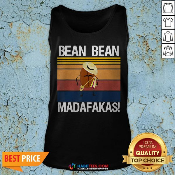 Coffee Bean Bean Madafakas Vintage Tank Top- Design by Habittees.com