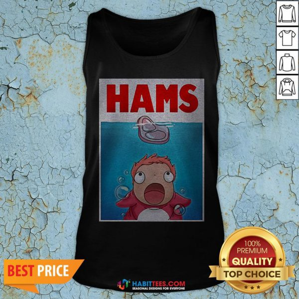 Official Hams Parody Jaws Tank Top- Design by Habittees.com