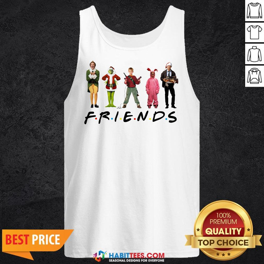 Characters Elf Grinch Kevin Friends Tank Top- Design by Habittees.com