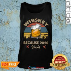 Pretty Whiskey Because 2020 Suchs Vintage Retro Tank Top- Design by Habittees.com