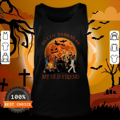 The Beatles Hello Darkness My Old Friend Tank Top
