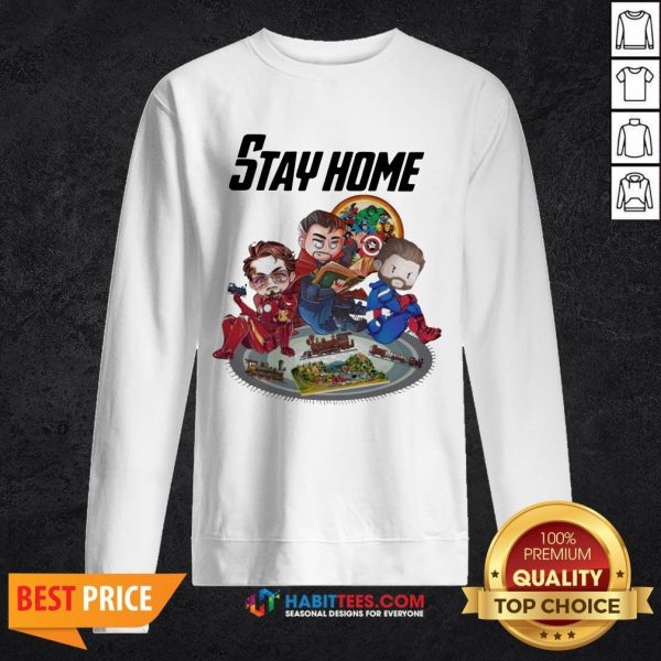 Official The Marvel Stay Home Sweatshirt