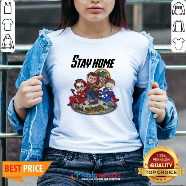 Official The Marvel Stay Home V-neck
