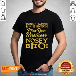 Twinkle Twinkle Little Snitch Mind Your Own Business Nosey Bitch Shirt