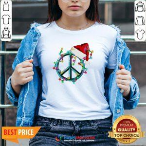 Funny Hippie Happy Christmas V-neck