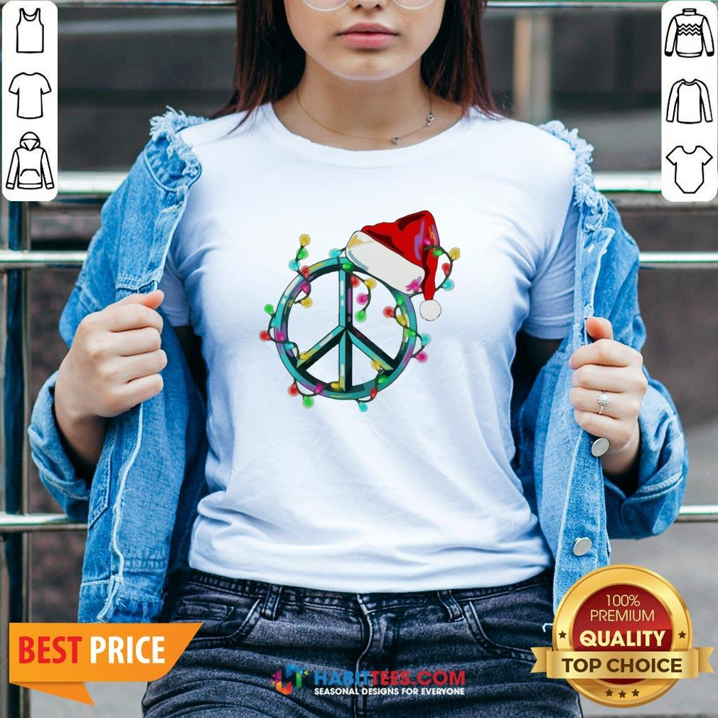 Funny Hippie Happy Christmas V-neck - Design by Habittees.com