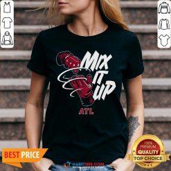 Funny Atlanta Braves Baseball Mix It Up ATL V-neck- Design by Habittees.com