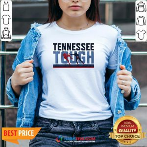 Awesome Tennessee Tough V-neck- Design by Habittees.com