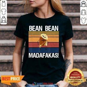 Coffee Bean Bean Madafakas Vintage V-neck- Design by Habittees.com