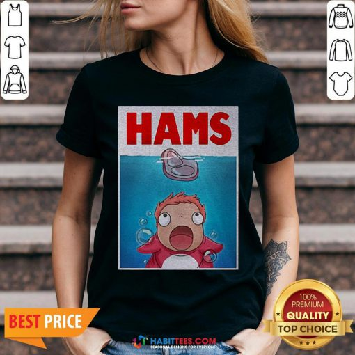 Official Hams Parody Jaws V-neck- Design by Habittees.com