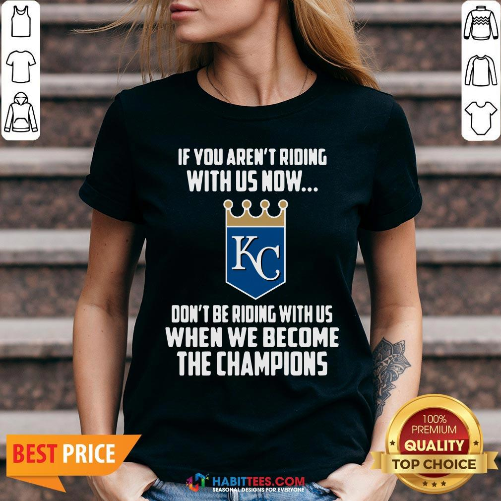 MLB Kansas City Royals Baseball We Become The Champions 2020 T-V-neck - Design by Habittees.com