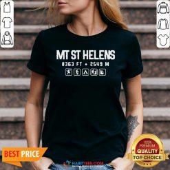 Nice Mt St Helens Washington Mountain V-neck- Design by Habittees.com