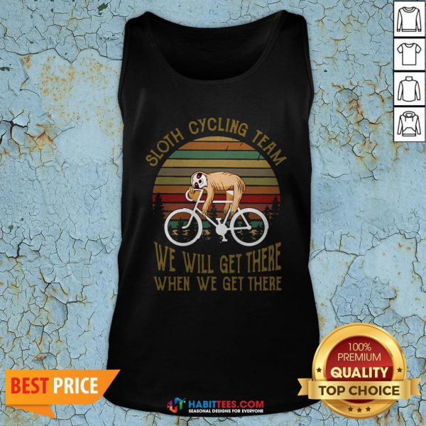 Vintage Sloth Cycling Team We Will Get There Tank Top
