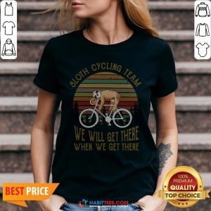 Vintage Sloth Cycling Team We Will Get There V-neck