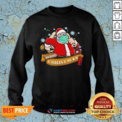 Awesome Best Santa Claus Wearing Mask Sweatshirt - Design By Habittees.com