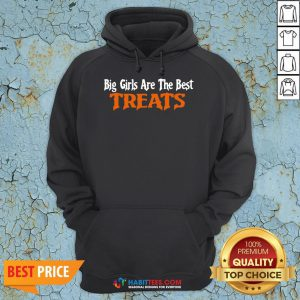 Awesome Big Girls Are The Best Treats Hoodie - Design By Habittees.com
