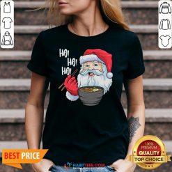 Awesome Ho Ho Ho Santa Eat Ramen In Christmas V-neck