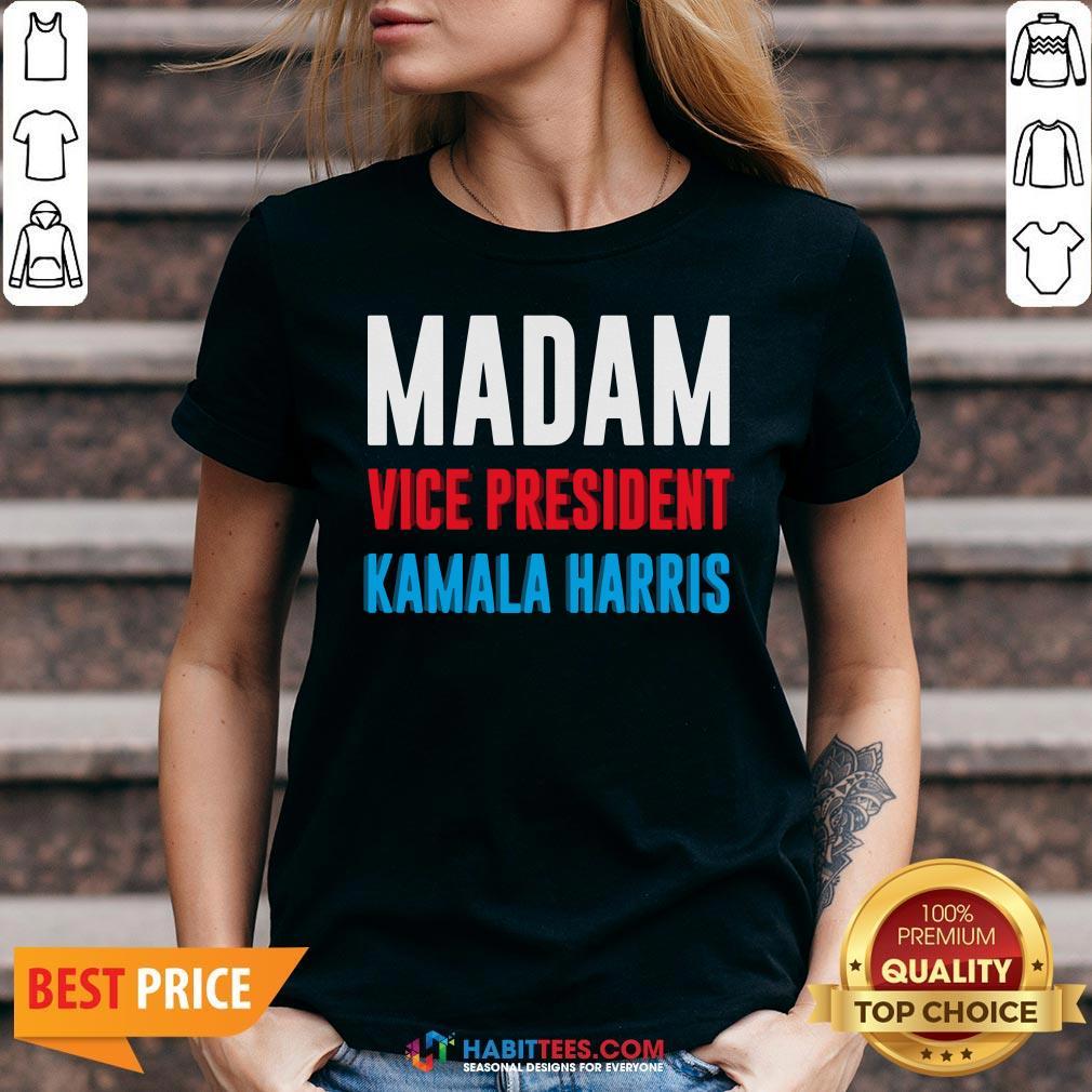 Awesome Madam Vice President Kamala Harris V-neck - Design By Habittees.com