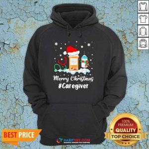 Awesome Nurse Santa Vaccine Merry Christmas #Caregiver Crew Hoodie
