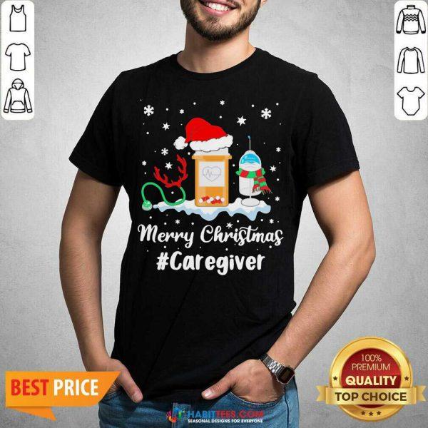 Awesome Nurse Santa Vaccine Merry Christmas #Caregiver Crew Shirt