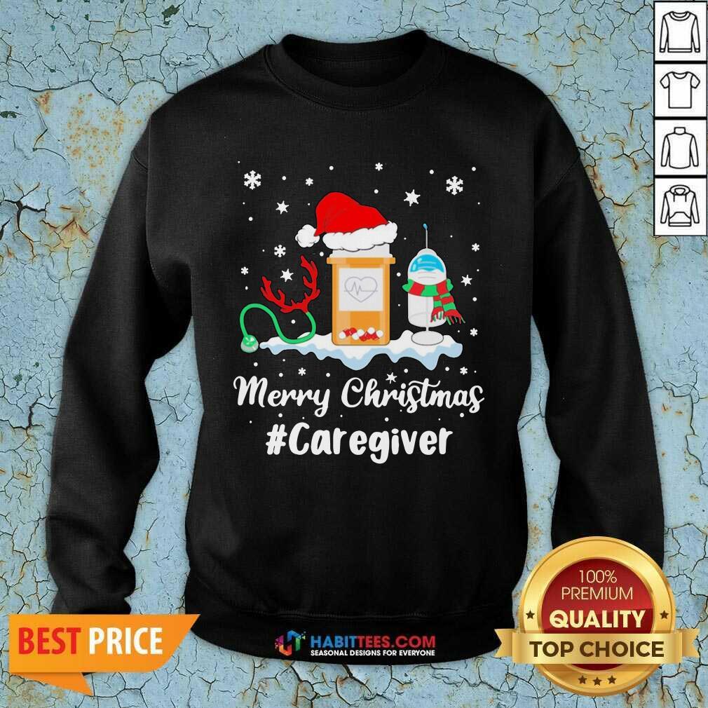 Awesome Nurse Santa Vaccine Merry Christmas #Caregiver Crew Sweatshirt