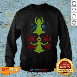 Awesome The Grinch Yoga Inhale Aaaaaa Sweatshirt - Design By Habittees.com