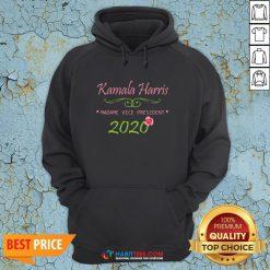 Cute Kamala Harris Madame Vice President 2020 Flower Hoodie - Design By Habittees.com