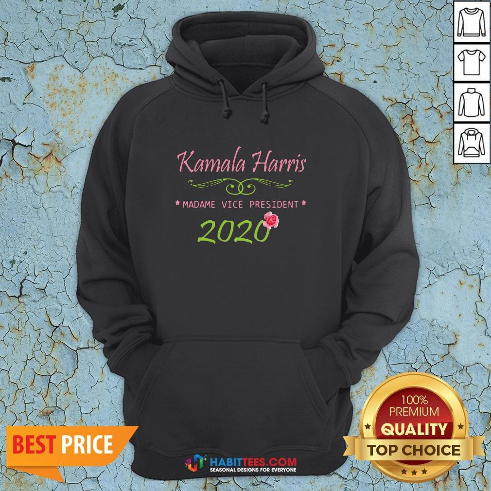 Cute Kamala Harris Madame Vice President 2020 Flower Hoodie - Design By Habittees.com