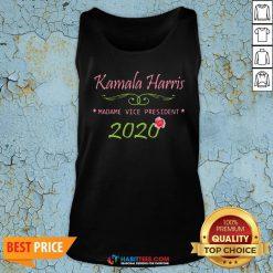 Cute Kamala Harris Madame Vice President 2020 Flower Tank Top - Design By Habittees.com