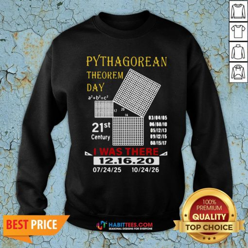 Cute Pythagorean Theorem Day 21st Century I Was There 12 16 20 Sweatshirt - Design By Habittees.com