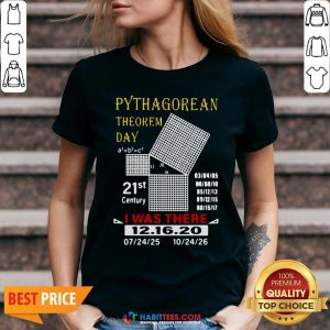 Cute Pythagorean Theorem Day 21st Century I Was There 12 16 20 V-neck - Design By Habittees.com
